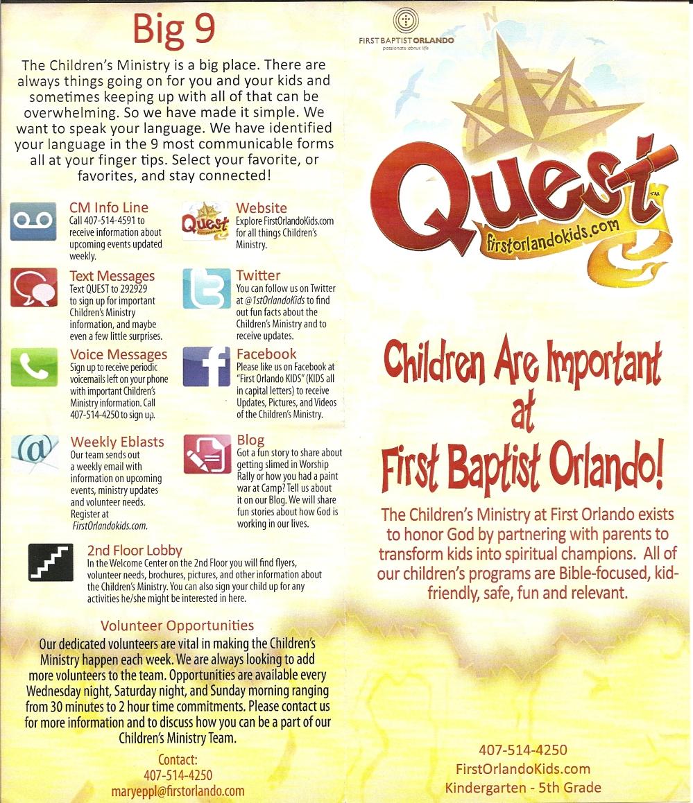 First Baptist Orlando- Kids Ministry- Quest – THE HOTSPOTORLANDO