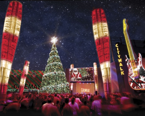 in universal citywalk sparkles with thousands of twinkling lights as 5 BH64m7Jl