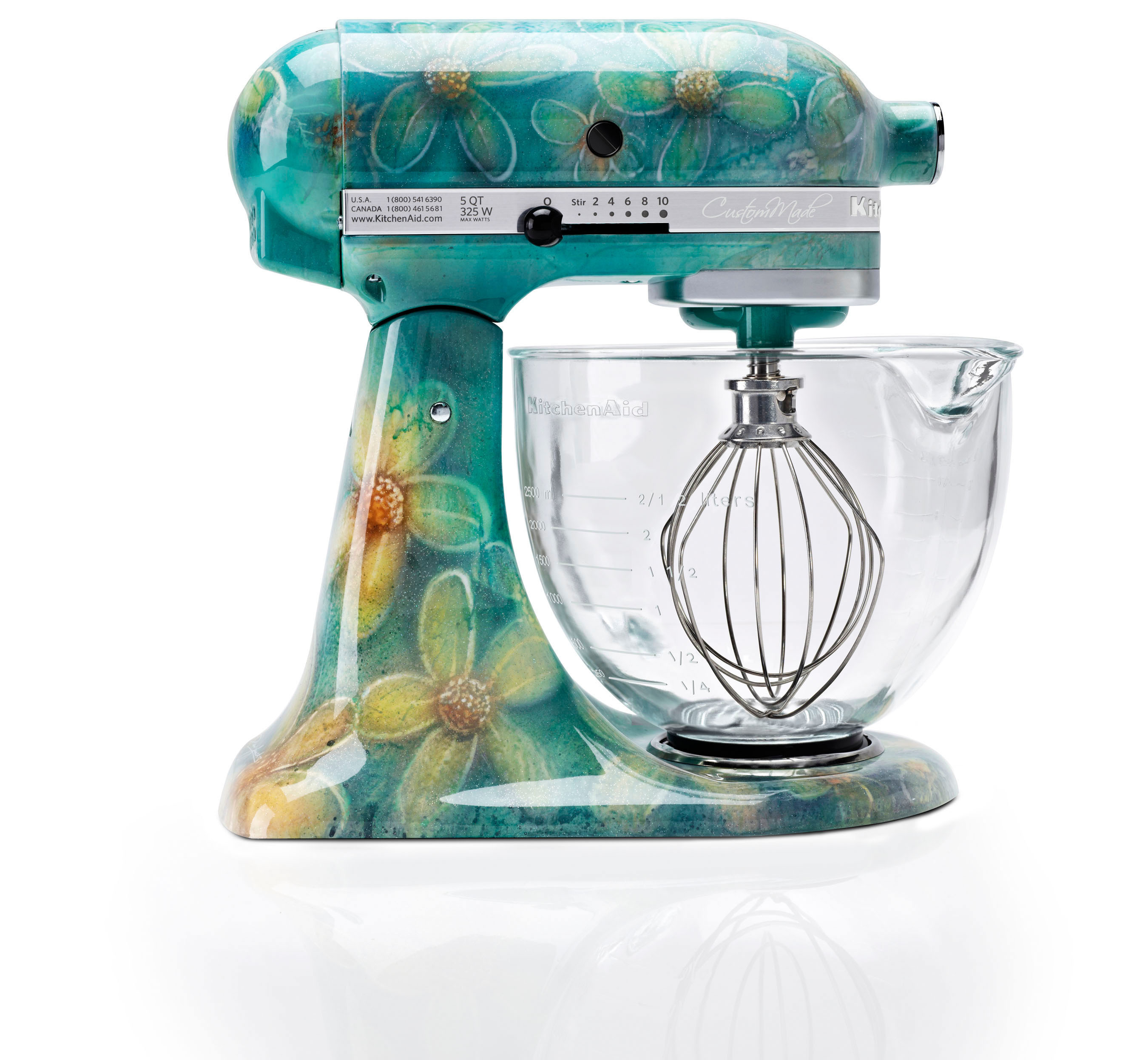 KitchenAid Will Offer Hand Painted, Limited Editions Of Its Iconic Stand  Mixer For The Holiday Season. The Six Original Designs Include Leopard, ...