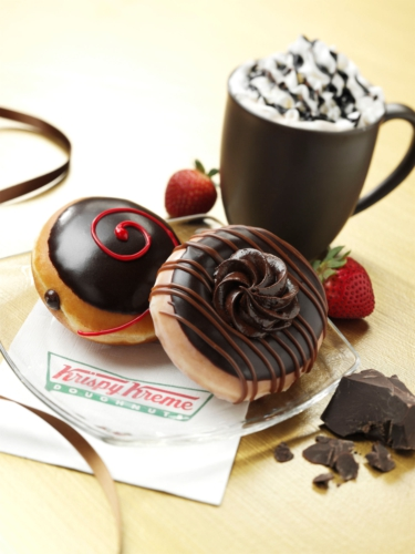 KRISPY KREME DOUGHNUT CORPORATION DARK CHOCOLATE DOUGHNUTS