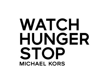 MICHAEL KORS WATCH HUNGER STOP LOGO