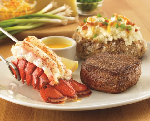 OUTBACK STEAKHOUSE SIRLOIN AND LOBSTER
