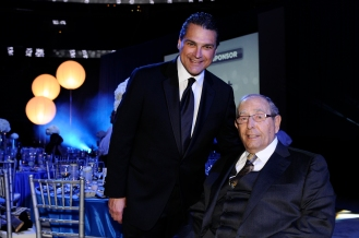 Orlando Magic CEO Alex Martins (left) with Magic Chairman Rich DeVos (right) at the Orlando Magic Youth Foundation's (OMYF) 23rd Annual Black Tie and Tennies Charity Gala on March 23 at Amway Center. The OMYF Gala raised more than $500k for the Central Florida community, with matching funds at .50 on the dollar provided by the McCormick Foundation. Photo taken by Gary Bassing.