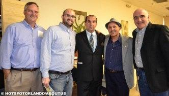 Steve and Craig Minegar,Nelson Freitas, Richard Samsone-Valencia College