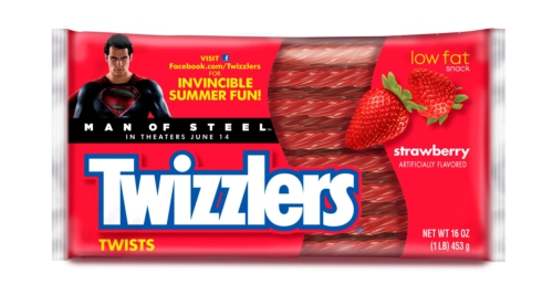 THE HERSHEY COMPANY TWIZZLERS MAN OF STEEL