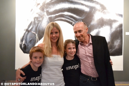 Patrick Kahn (Snap creator) his wife Holly and kids