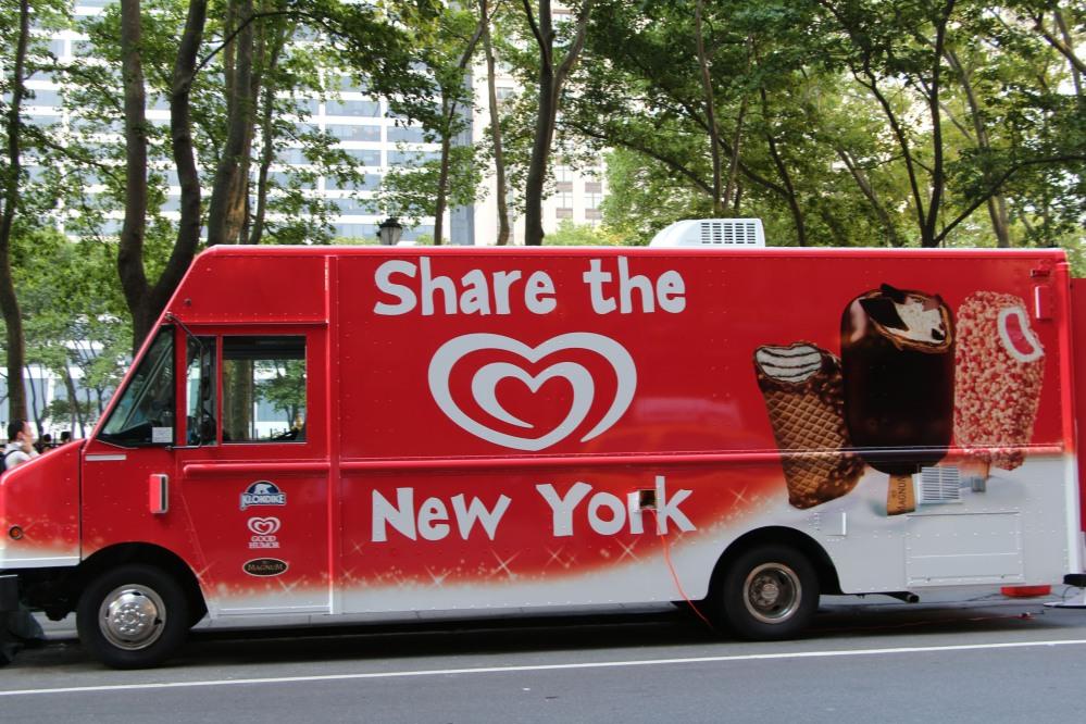 GOOD HUMOR SHARE THE LOVE NEW YORK TRUCK