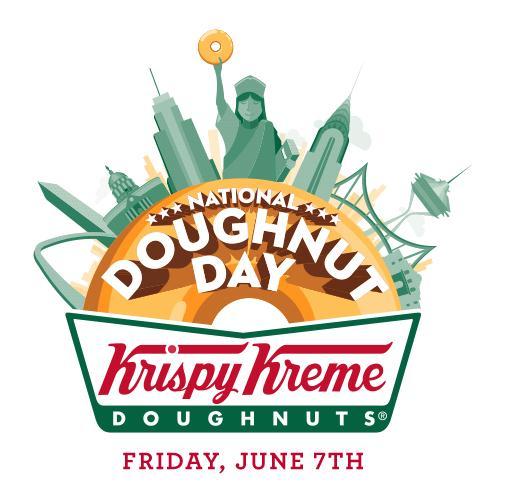 National Doughnut Day at Krispy Kreme Logo