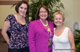 mayor Teresa jacobs , Assistant Zoraida Velasco and Amy Litter
