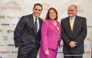 Alejandro Pezzini, pablo Rosenbur and Orange County Mayor teresa jacobs