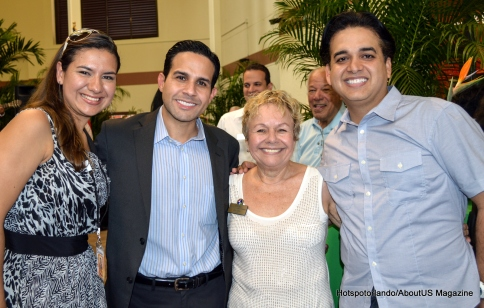 Amy litter, Luis Martinez, Oscar Ortiz, and Gloria Puerto