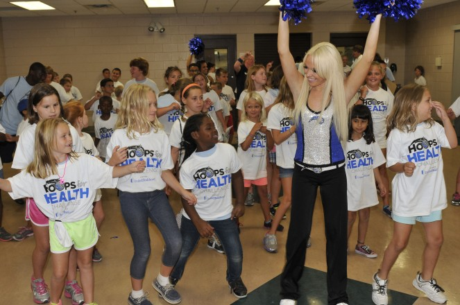 Magic Dancers hold a dance clinic this summer for youth during the Magic's Hoops for Health Challenge presented by UnitedHealthcare.Throughout the year, the Magic and UHC have partnered to engage local youth in approximately 40,000 hours of healthy, physical activity.
