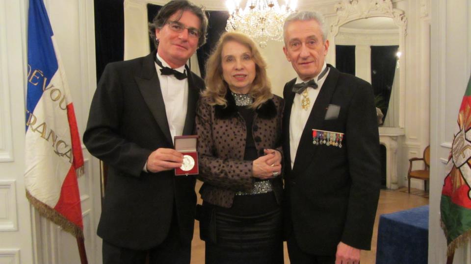Nilton Bustamante, _urea Maldaner, Embaixada do Brasil em Paris, e Jean Paul de Bernis