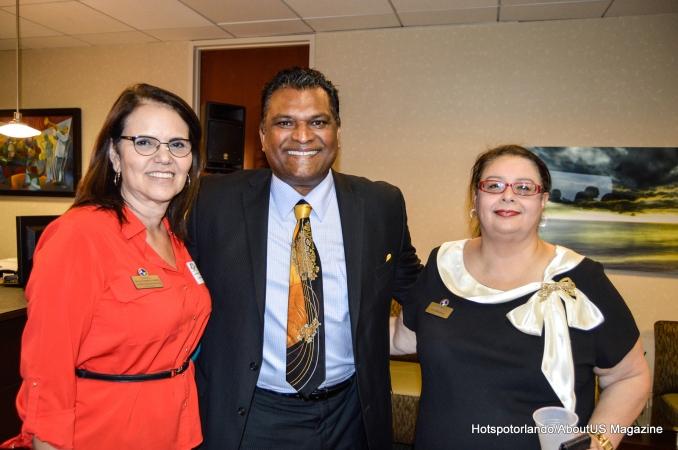 Rick Singh, Orange County Property Apraiser, CFBACC Vice President Lis Sommerville, and CFBACC Secretary Laiz Rodrigues