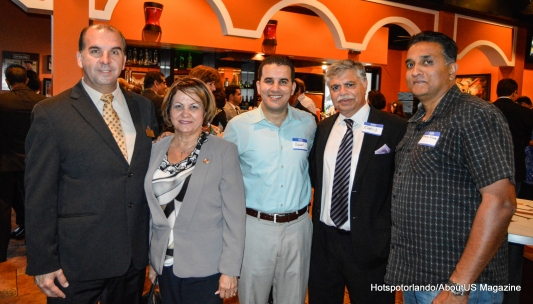 Nelson Freitas and President - María Luyanda President of The PR Chamber of Commerce Khalid Muneer and friend