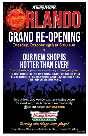 Krispy Kreme Millenia Grand Re-Opening October 29 2013