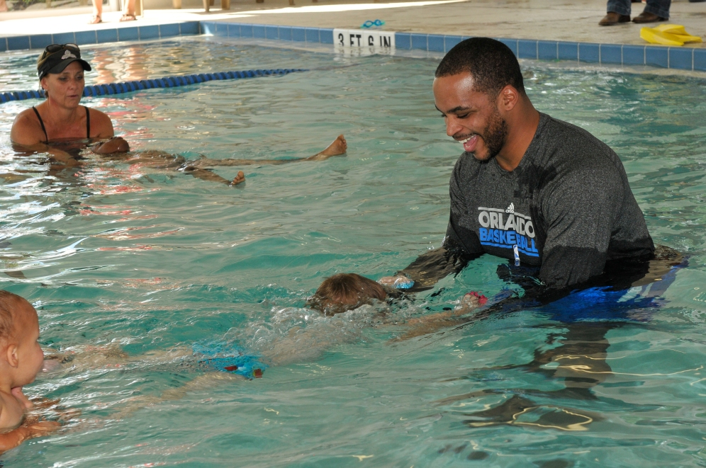 The Gift of Swimming Jameer Nelson swim lessons smiling 071