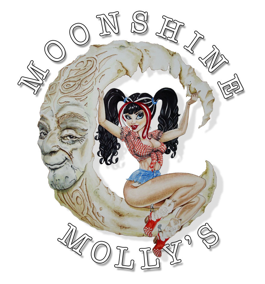MOONSHINE MOLLY'S COUNTRY RESTAURANT & SALOON LOGO