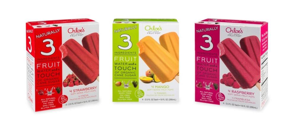 CHLOE'S SOFT SERVE FRUIT CO 3 POPS