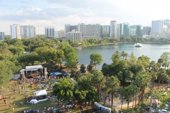 Downtown Food & Wine Fest along Lake Eola AERIAL February 22 and 23 2014