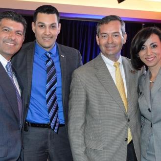 Hector Perez President of Alpfa, Jose Cerda and Gabi Ortigoni