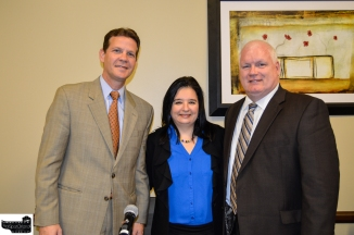 Senator Andy Gardiner, HCCMO President Diana Bolivar, and Jerry Ross, Executive Director of the National Entrepeneur Center