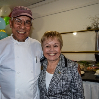 Chef Santos and President Amy Litter