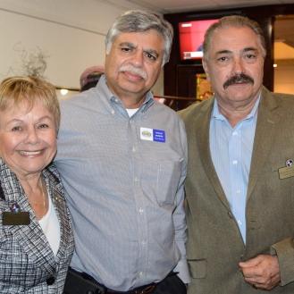 President A. Litter, Broker Khalid Muneer and Broker Celestino DeCicco