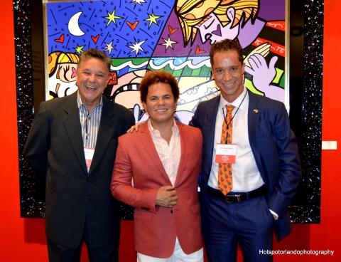 Luiz Piquet, Romero Britto & Cristiano Piquet LIDE USA President