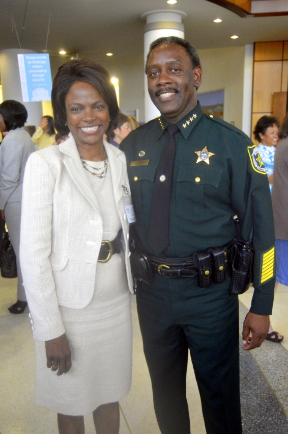 Mayoral Candidate Val Demings and her husband Sheriff Chief Demings