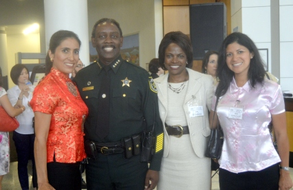Sheriff Demings and his wife Val Demings Mayoral Candidate for Orange County Mayor and Bright House Networks Representatives Iris and Monica Correa