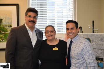 Commissioner Ortiz, VP Laiz Rodrigues, Luis Martinez