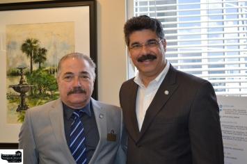 Celestino DeCicco and Commissioner Ortiz
