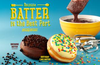 Krispy Kreme Birthday Cake and Brownie Batter Doughnuts