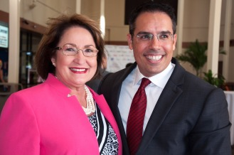 Alejandro Pezzini and Mayor Teresa Jacobs