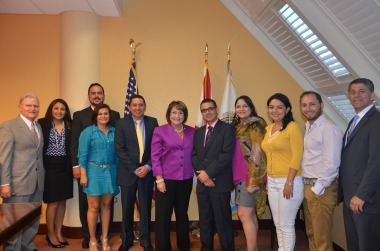 Mayor Teresa Jacobs and the Orange County Office of Economic Development welcome faculty members from the Universidad Autonoma de Occidente in Colombia and representatives from the University of Central Florida Business Incubation Program.