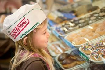 Kids Enjoy Krispy Kreme