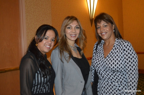 From the Right Aida Lublin HomeQuoteHQ, center Monica Chavero-RMI Resource Management Inc. and friend