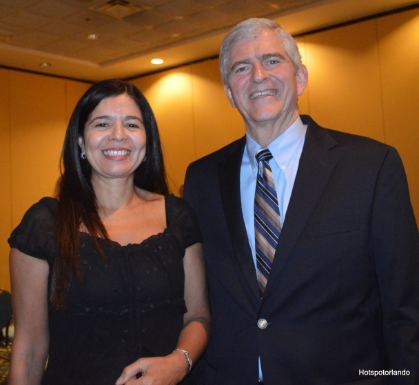 Marcia Walker and Congressman Daniel Webster