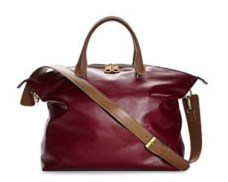 TJMaxx Marshalls Burgundy Leather Tote