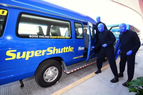 SuperShuttle International Blue Man Group