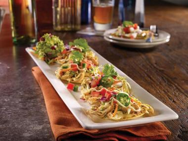 TGI Fridays Spicy Chicken Tostadas
