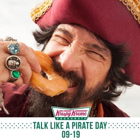 Talk Like a Pirate Day at Krispy Kreme September 19