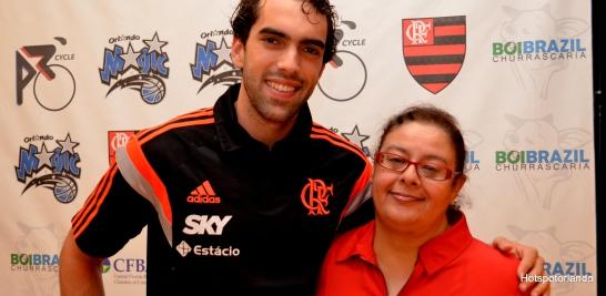 Player Vitor Benite and Laiz Rodrigues