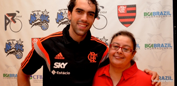 Player Vitor Benite and Laiz Rodrigues