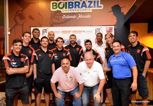 The Team and Ademar Rodrigues CEO The Hotspotorlando, Todd -Construmax, Carlos Velez Marketing at The Orlando Magic