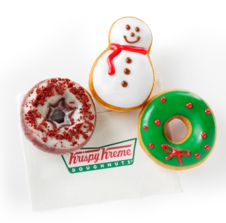 Share the Joy of Krispy Kreme Holiday Doughnuts