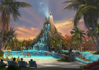 Universal Orlando Resort is bringing to life an entirely new water theme park experience - Volcano Bay at Universal Orlando Resort. It will join Universal Studios Florida and Universal's Islands of Adventure and become the resort's third incredibly immersive park, opening in 2017. (C) 2015 Universal Orlando Resort. All rights reserved. (PRNewsFoto/Universal Orlando Resort)