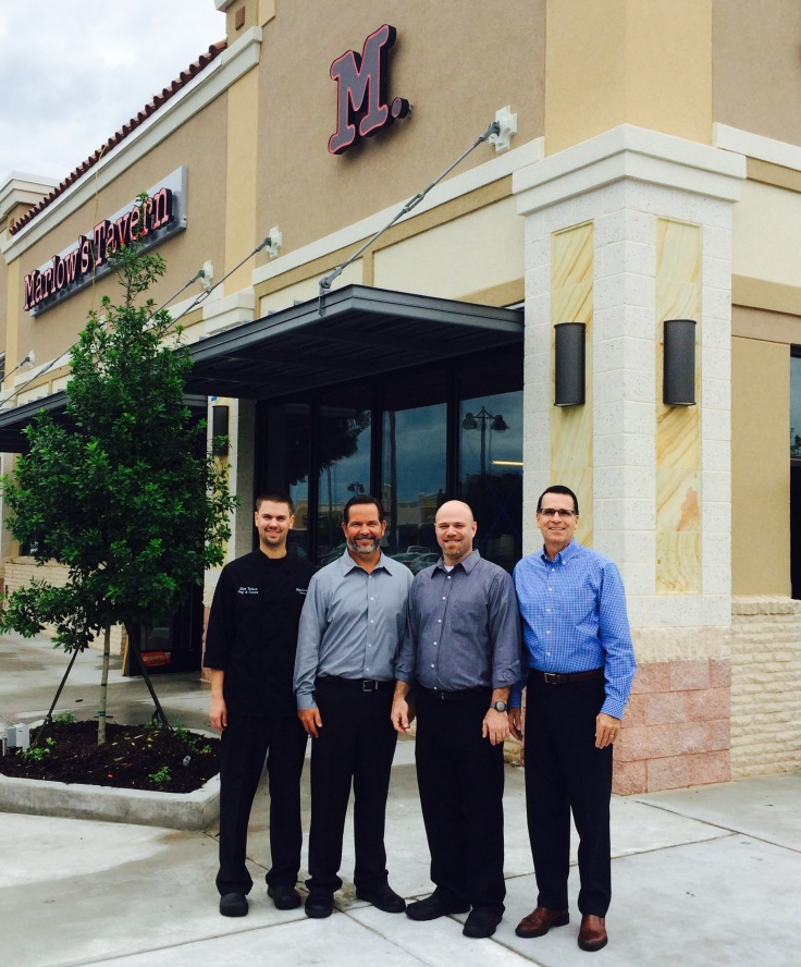 Management Team at Marlow's Tavern Waterford Lakes (Left to Right) Matthew Tolson, Chef de Cuisine Michael Russo, General Manager Steve Cohn, Beverage and Hospitality Manager Harold Phillips, Beverage and Hospitality Manager, General Manager for future tavern location