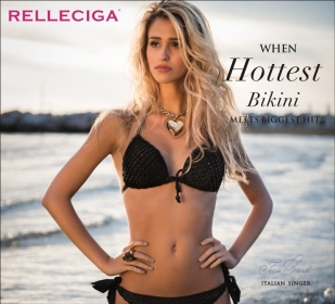 WHEN HOTTEST BIKINI MEETS BIGGEST HIT... (PRNewsFoto/http://www.relleciga.com)